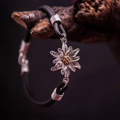 Edelweiss - Silver Filigree Bracelet by BongeraFiligrana on Etsy
