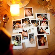 """""""At each table we placed Fujifilm cameras that produced instant photos,"""" explains Kevin. """"Some of the greatest moments of the whole night were captured this way."""" Michael Simon Wedding Photography."""