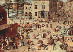 Pieter Bruegel the Elder - Children's Games ca. 1560 oil on panel. Check out Gable's review of Elizabeth Enright's The Four-Story Mistake here: http://chaptersandscenes.wordpress.com/2014/02/23/gable-reviews-the-four-story-mistake/
