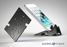 http://www.industrialdesignserved.com/gallery/Pocket-Tripod-360-wallet-sized-iPhone-stand/8443155