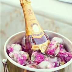 PINK ROSE PETAL ICE CUBES - PERFECT FOR A SUMMER WEDDING