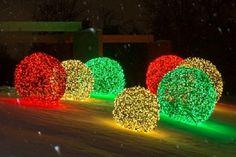 Comment fabriquer des boules géantes de lumières pour décorer l'extérieur!
