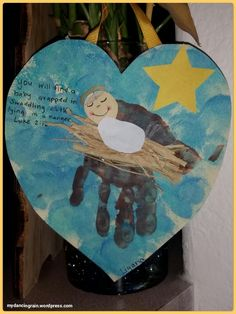 Adorable handprint Christmas craft showcasing the reason for the season, the birth of Jesus Christ!