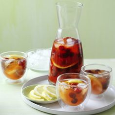 ***Raspberry Ice Tea***  4 English Breakfast or Ceylon tea bags  2/3 cup caster sugar (optional or substitute with stevia or other natural sweetner)  2 cups boiling water  6 cups iced water  1 cup lemon juice  300g box Creative Gourmet frozen Raspberries  1/2 lemon, thinly sliced  2 cups ice-cubes