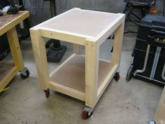 Easy Shop Table - Planer Table #6: Adding the casters and finishing the project