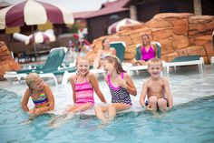 Enjoy the summer at Great Wolf Lodge Williamsburg, Va with a visit to Thunder Bay. This outdoor adventure pool features geysers, fountains, water basketball and slides to keep the water park action going all day. It's zero-depth entry makes it a place the whole family can enjoy.