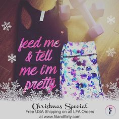❄️Get the perfect gift for the fitness fashionista on your Christmas list!! ❄️ FREE shipping End Dec 25, 2016 www.fitandflirty.com on all USA Love Fitness Apparel orders #feedmeandtellmeimpretty #lfa #fitnessfashionista #holidaysweat #freeshipping #girlswhosquat #runnergirl #sweatpink #bossbabe #girlboss #ecommerce #fitforlife #merrrychristmas #noexcuses #festivefun #crossfirgirls #fitandflirty #specialsale #peaceonearth ✌️