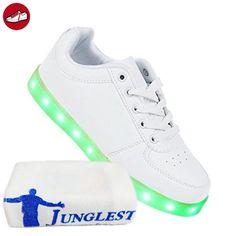 [Present:kleines Handtuch]Weiß 45 Leuchtende Top High Damen Sport Sneakers Led JUNGLEST Farbwechsel Licht Schuhe Bli vtHBlCH