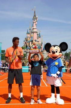 Disneyland Paris: tennis player Gael Monfils