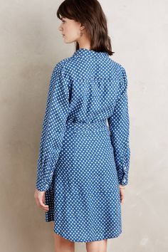 Dotted Linen Shirtdress - anthropologie.com