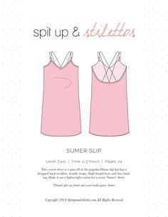 Women's Slip Dress Sewing Pattern Spit Up & Stilettos