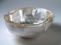 Silver bowl with a layered edge by designer-maker  Sidsel Dorph Jensen