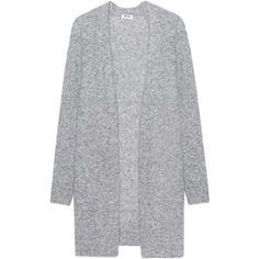 ACNE STUDIOS Raya Mohair Grey // Wool mohair cardigan ($405) ❤ liked on Polyvore featuring tops, cardigans, jackets, outerwear, sweaters, gray wool cardigan, gray cardigan, wool top, grey cardigan and grey top