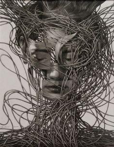 "Cane Dojcilovic; ""Drawing #9"" Pencil Art, Pencil Drawings, Art Conceptual, Oeuvre D'art, Female Art, New Art, Les Oeuvres, Illustrators, Saatchi Art"