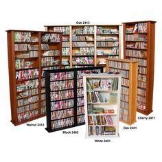 Found it at Wayfair - VHZ Entertainment Large Triple Multimedia Storage Rack Cd Storage, Media Storage, Media Shelf, Bookcase Styling, Adjustable Shelving, Shelves, Shelving Units, Entertaining, Furniture