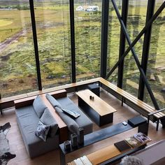The lobby area doubles as a restaurant lounge at the Ion Adventure Luxury Hotel in Iceland.:
