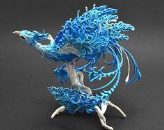 Phoenix Figur Vogel Figur Phönix Skulptur OOAK von MyOwnDragon