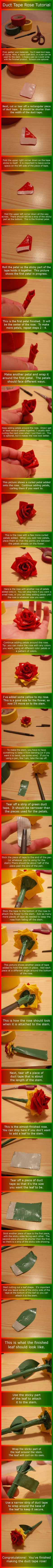 duct tape rose tutorial from annelicyambl.deviantart.com