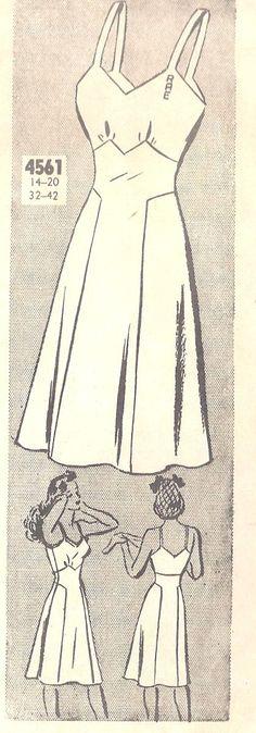 1940s Misses Slip Petticoat Vintage Unprinted by MissBettysAttic, $12.00