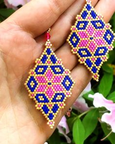 Bead Embroidery Jewelry For You or Someone You Love by SplendidBeadsBklyn Beaded Earrings Patterns, Bead Loom Patterns, Seed Bead Earrings, Jewelry Patterns, Bracelet Patterns, Beading Patterns, Beaded Jewelry, Beaded Bracelet, Jewellery