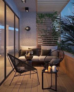 Attractive balcony with parquet hardwood and modern garden furniture. - balcony garden 100 - Attractive balcony with parquet hardwood and modern garden furniture. Apartment Balcony Decorating, Apartment Balconies, Apartments, Apartment Plants, Modern Garden Furniture, Furniture Sets, Outdoor Balcony Furniture, Outdoor Bedroom, Small Balcony Decor