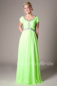 Modest Prom Dresses : Kelly -Modest Mormon LDS Prom Dress