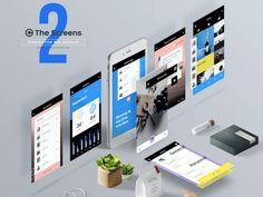 The Screens Mockups package comes with two PSDs: one that enables you to show off your web designs across a variety of desktop screen sizes and orientations and another that does the same, only for mobile applications. Each PSD file comes with smart objects, layers, adjustable shadows, customizable backgrounds, and more, so you can personalize …