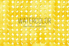 4 hand drawn watercolor patterns. All these patterns are seamless. Great for backgrounds, invitations, cards, wallpapers, scrapbooking, wrapping and much more.