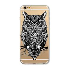 "Fundas Mobile Phone Bags Case Cover for iphone 6 6S 4.7"" Soft Slim TPU Transparent Soft Cute Animal Cat Owl Rabbit Printed Style"