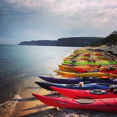 Who's ready for a trip on the water? We love this shot of kayaks on the shores of Miner's Beach waiting to be taken out to Pictured Rocks. Thanks to Instagrammer @0zones for sharing! #PureMichigan #Kayak
