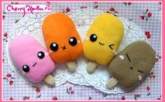 cute+plushies | Cute Ice Lolly Plushies by ~CherryAbuku on deviantART