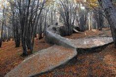 Visual artist Adrián Villar Rojas - Wood, rocks and clay. Bienal del fin del mundo. Second Edition. Ushuaia.