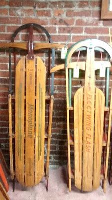Small Town America - Duncannon Pennsylvania - Old Sleds on Display at the Old Sled Works Antique and Craft Market
