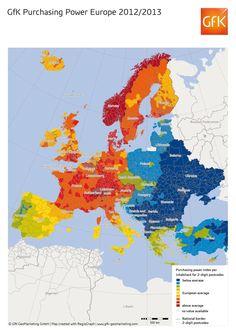 Poder Adquisitivo  2012/13 #Europa #economía #economics #españa #spain #estadística #statistics #europe #world