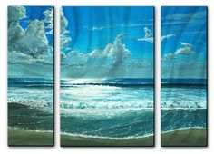 'Surfside Sparkle' by Keith Wilke 3 Piece Graphic Art Plaque Set