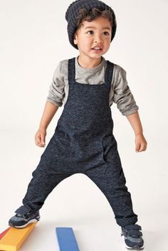 Navy Jersey Dungarees (3mths-6yrs)