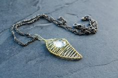 Necklace Pendant -Splinter Series- in Champagne and Transparent on Etsy, 191,67kr