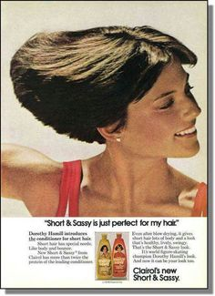 "Dorothy Hamill and the iconic ""wedge"" hair style."