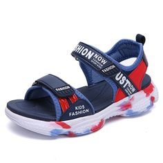 Color : Darkblue, Size : 9.5 M US Toddler Boys Double Hook-and-Loop Sport Orthopedic Sandals Toddler