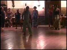 Dance class with a Sanegalese African Dance and Drum teacher.