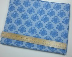 Dr Who Fabric Fat Quarter  Blue #Tardis Damask by spacefem on Etsy #fabric