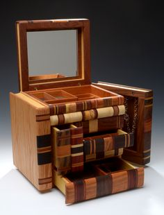 Dramatic Book Stack Jewelry Box ~ Steven B. Levine ~ Woodwork