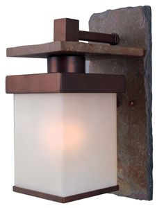 Kenroy Home 70281 Boulder 1 Light Small Outdoor Wall Sconce Copper Outdoor Lighting Wall Sconces Outdoor Wall Sconces