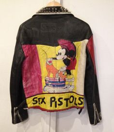 Insane Vintage Late 70's/early 80's Punk Leather Jacket - Sex Pistols, PiL, Mohawk Mickey #punk #sexpistols #leatherjacket #vintage