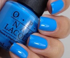 Opi no room for the blues…cause i'm feeling blue nail polish Get Nails, Fancy Nails, Trendy Nails, How To Do Nails, Perfect Nails, Gorgeous Nails, Opi Nail Colors, Opi Blue Nail Polish, Gel Polish