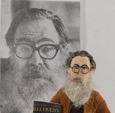 John Berryman American Poet Literary Art Miniature Doll Gift