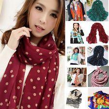 Fashion Polka Dot Girls Women Long Wrap Shawl Chiffon Stole Silk Scarf Scarves