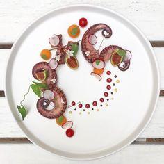 octopus, figs, melon, lemon juice, Chianti wine