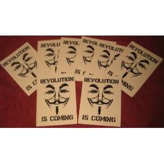 Amazon.com: Anonymous Revolution is coming decal sticker Guy Fawkes V mask: Everything Else