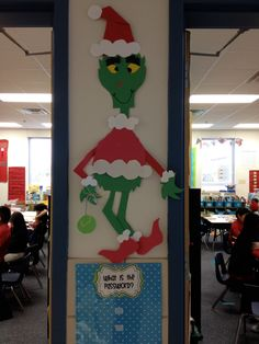 Neat activities around the Grinch story book.